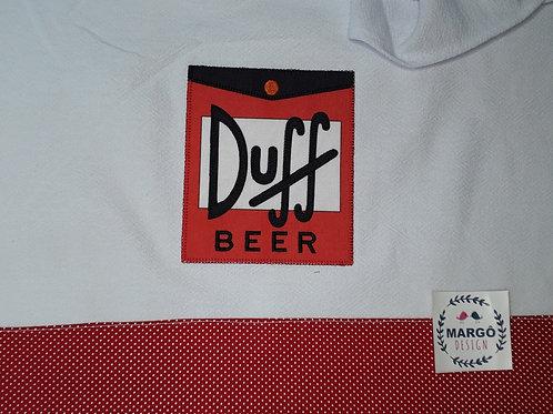 Pano de Prato Patchaplique Coleção Rótulos Cervejas e Bebidas Duff