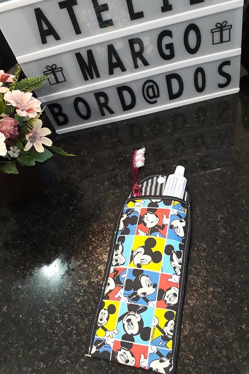Case Porta escova de dentes e creme dental Mickey