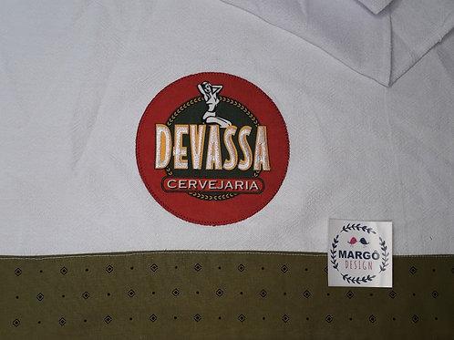 Pano de Prato Patchaplique Coleção Rótulos Cervejas e Bebidas Devassa