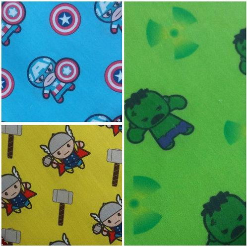 Kit 4 Fraldas Super Heróis