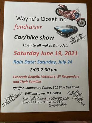 Wayne's Closet Inc. Fundraiser Car Show!!