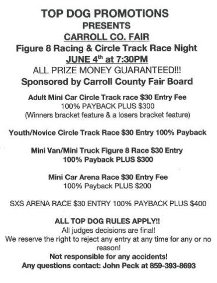Figure 8 Racing and Circle Track Race Ni