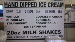 Hand-dipped ice cream for hot days!