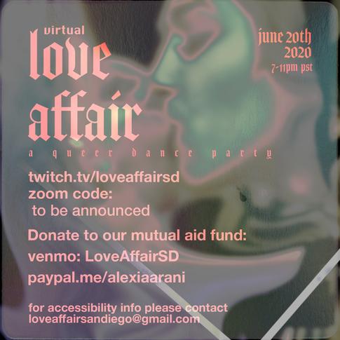 Love Affair Mutual Aid Flyer