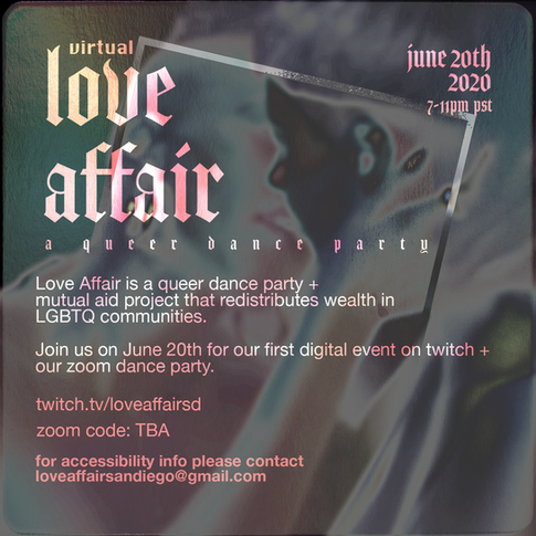 Love Affair (Mutual Aid) Flyer