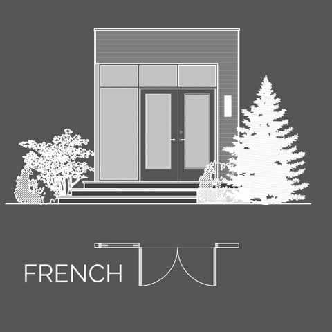 You can choose from single, garden or french-style doors.