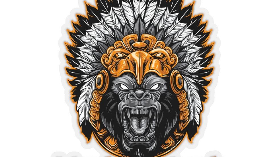 Aztec Gorilla Kiss-Cut Stickers