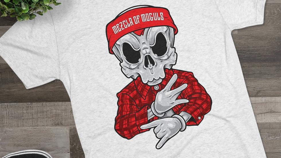 Chicano Skull M.O.M Men's Tri-Blend Crew Tee