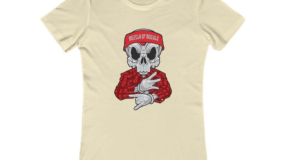 Chicano Skull M.O.M Women's The Boyfriend Tee