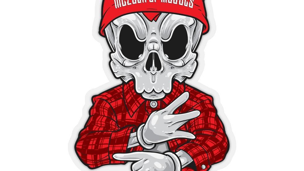 Chicano Skull M.O.M Kiss-Cut Stickers