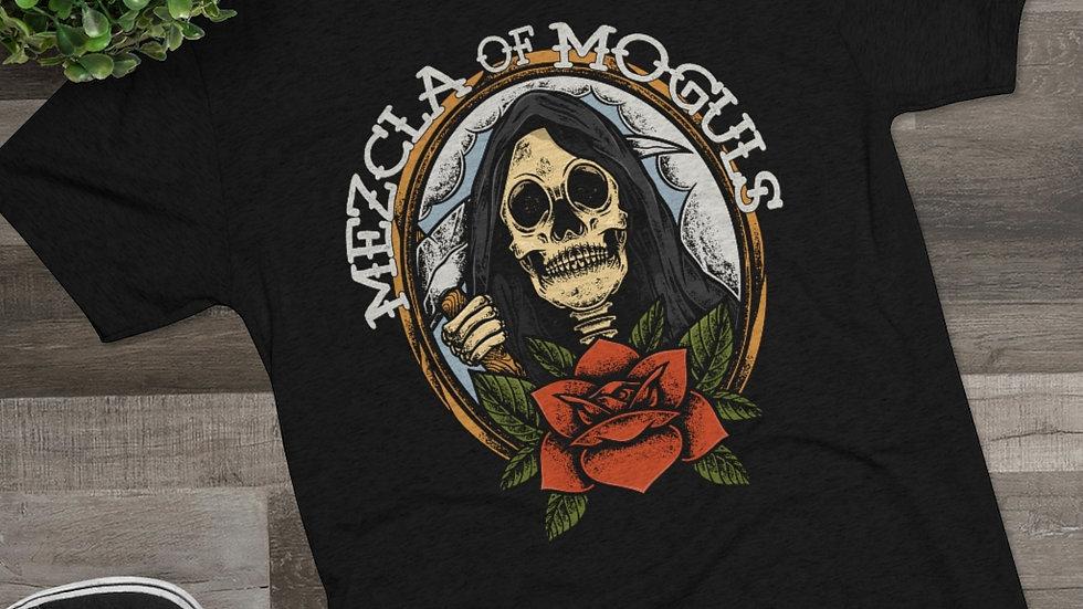 Skull Rose M.O.M Men's Tri-Blend Crew Tee
