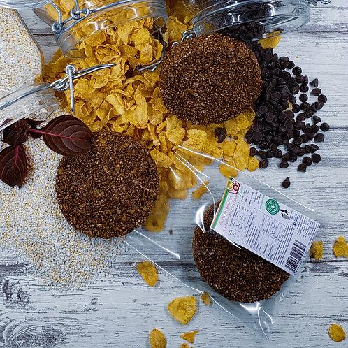Rueda de cereal con chocolate oscuro y amaranto 60g