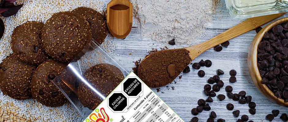 Galleta Integral Con Amaranto Pop Sabor Chocolate 🌱🍫🍪(4 piezas)