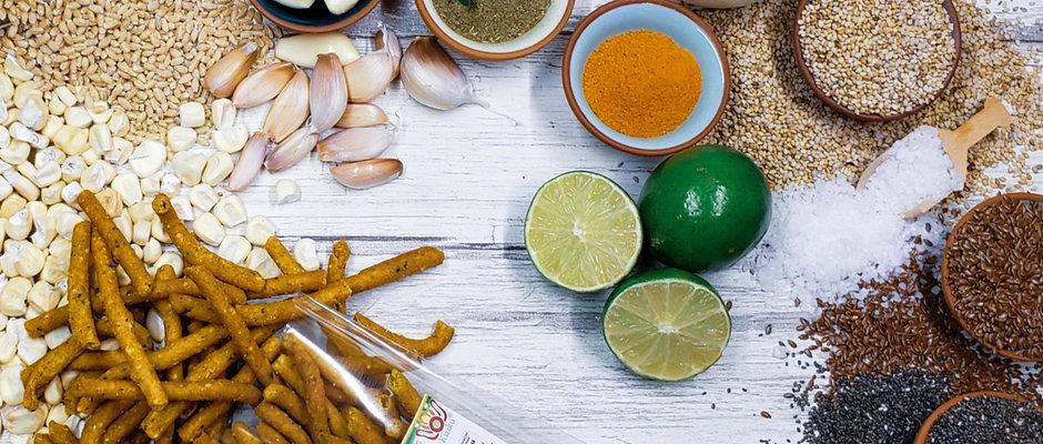 Churrito con amaranto premium sabor limón/sal 80g