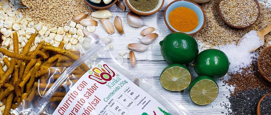Churrito con amaranto premium sabor limón/sal 250g