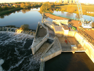 YORKSHIRE'S FINEST:  RIVER HYDRO-ELECTRIC SCHEME OPENED BY GEOFFREY BOYCOTT