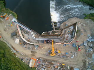 Construction starts at Knottingley and Kirkthorpe gets its Kaplan Turbine.