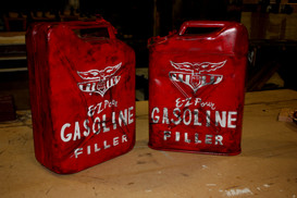 Finished and Replicated Gas Cans