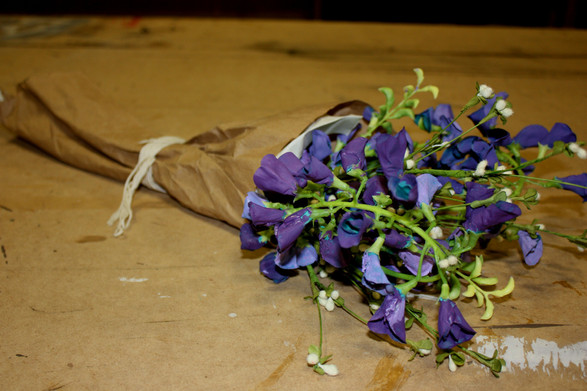 Bluebells Wrapped in Brown Paper