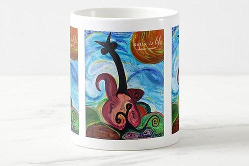 "Coffee Mug ""Music is Life"""