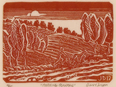 Morning Plowman relief red cream 3x4.5.J