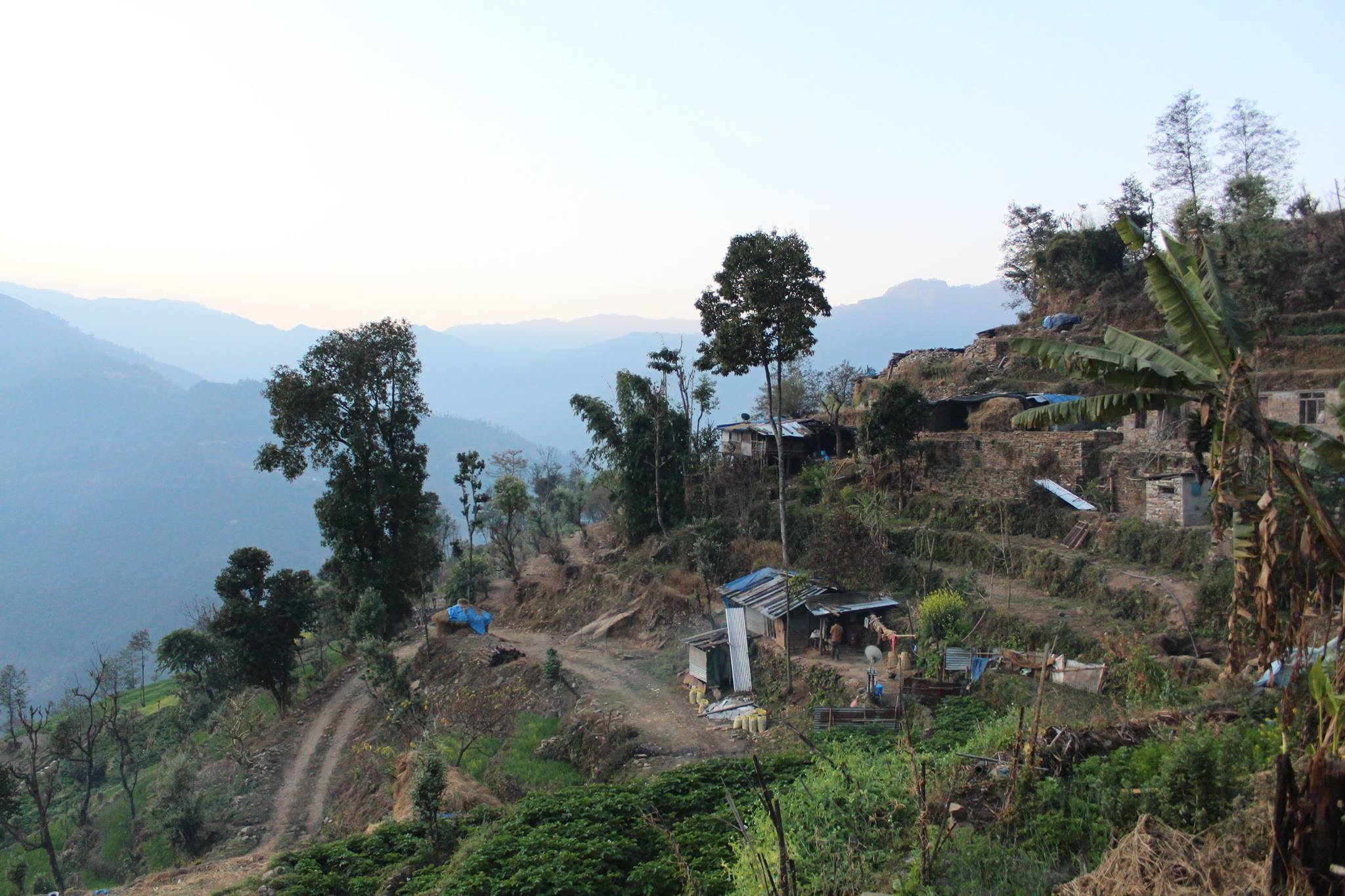 Morning mountain views