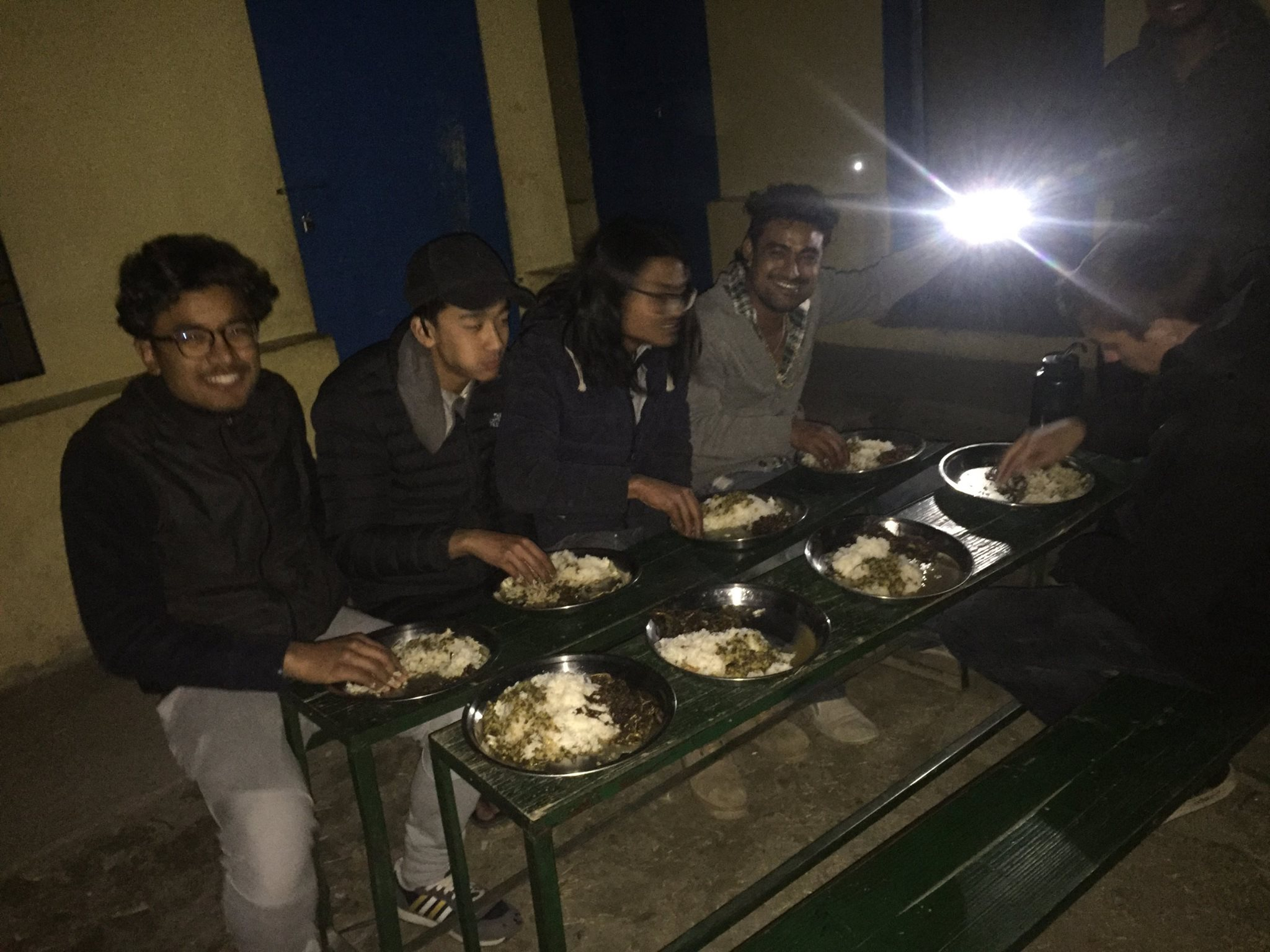In Nepal you eat with your hands :D