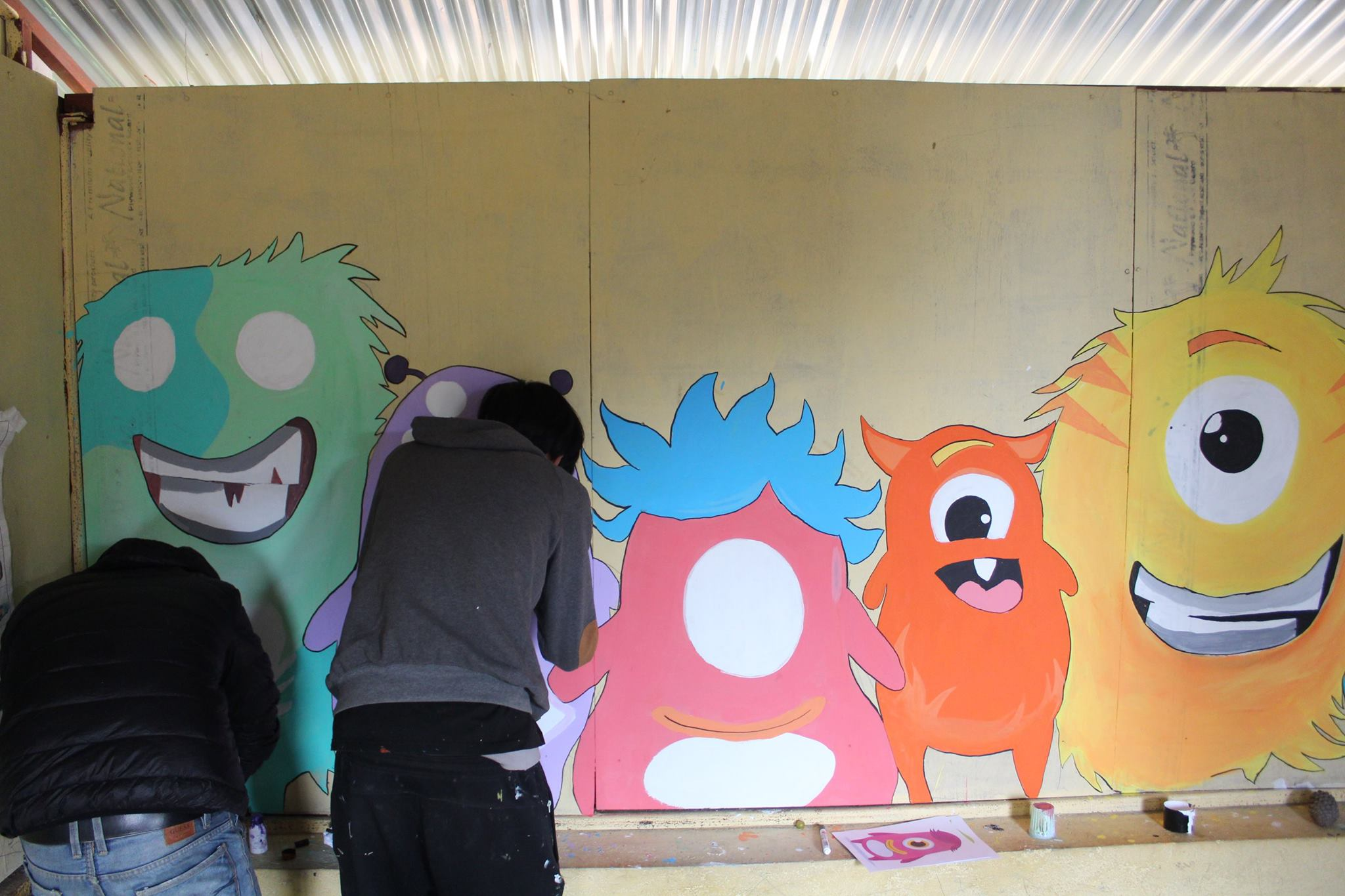 Painting the school with love