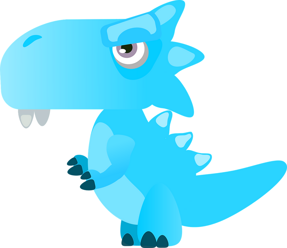 a blue dragon found in the book Isasnora Snores