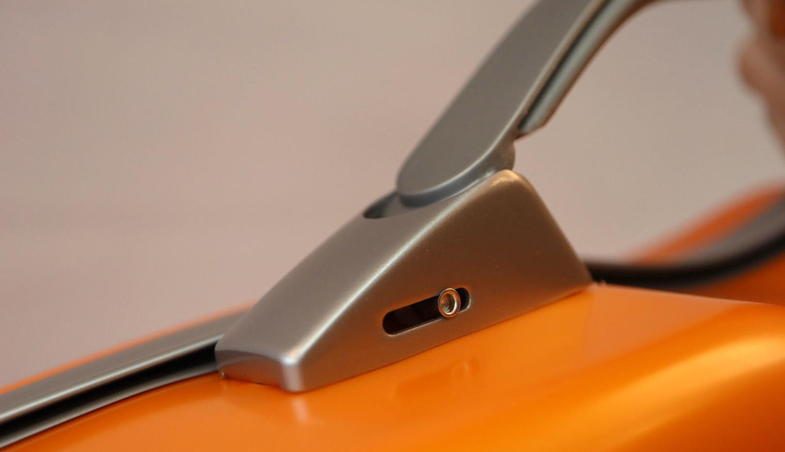2000XLORG - Hightech Slim Violin Case - Orangey