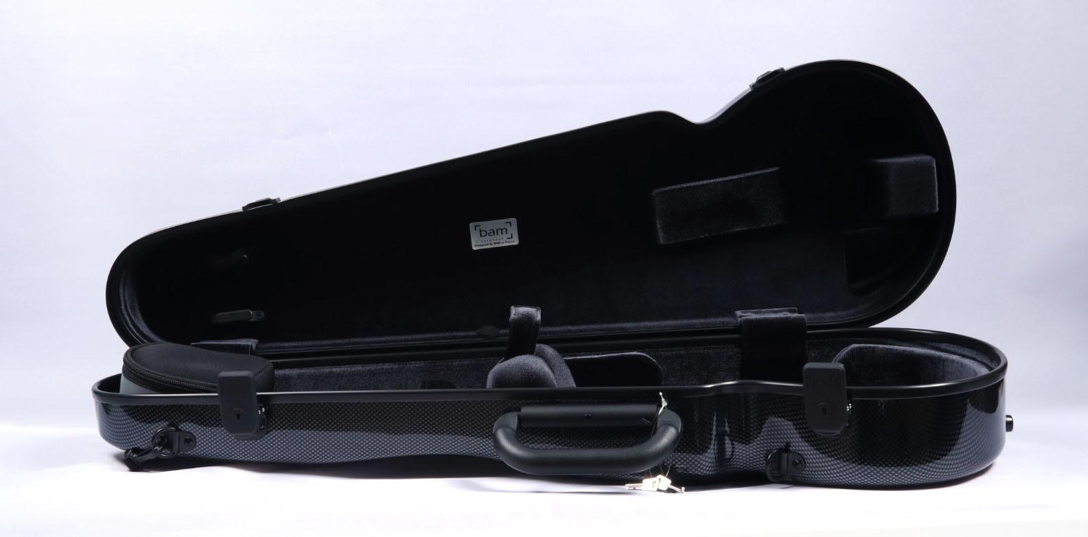 2002XLC - Hightech Contoured Violin Case - Black Carbon Look
