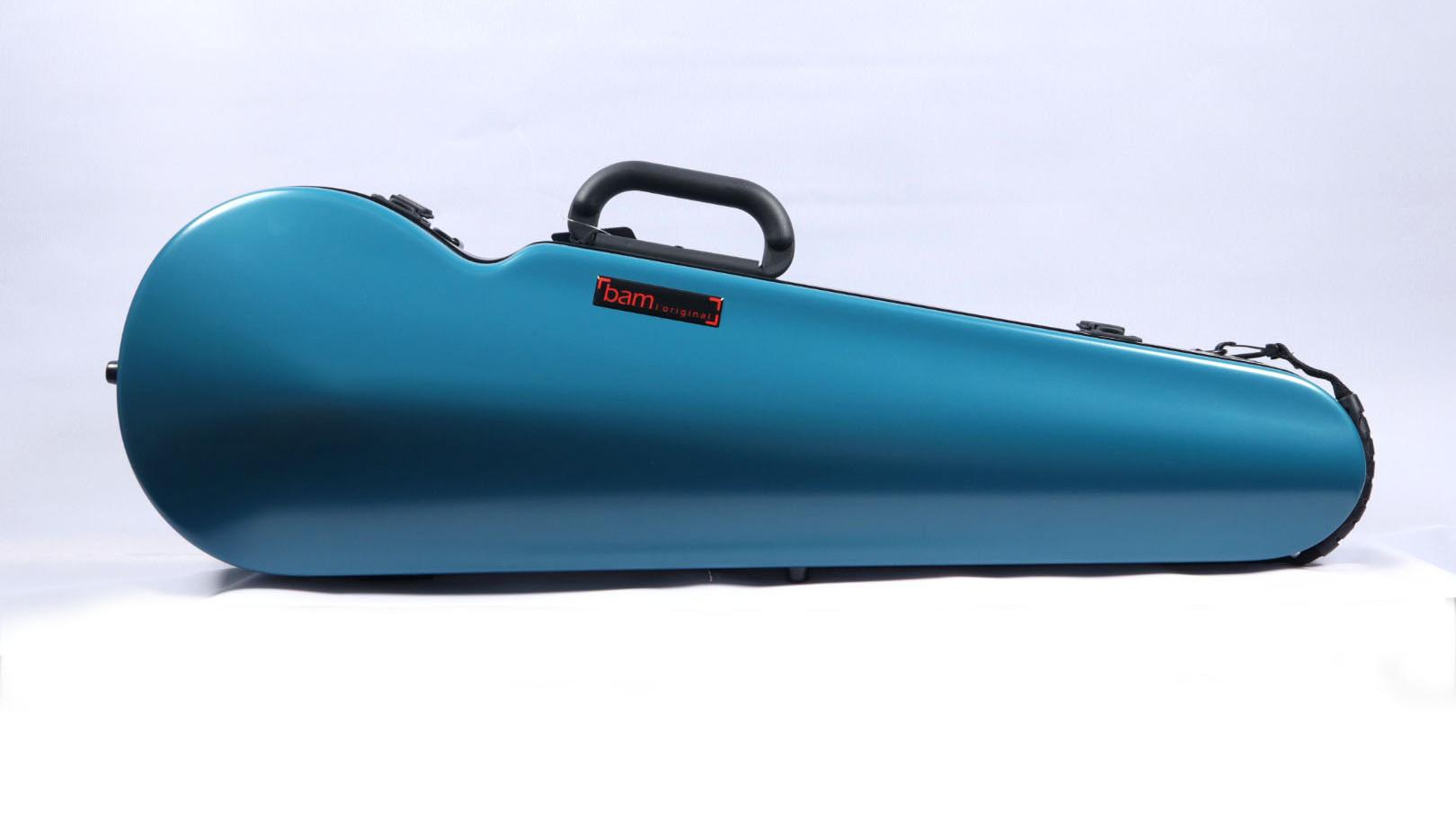 2002XLB - Hightech Contoured Violin Case - Azure Blue
