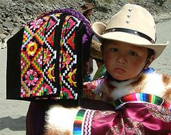 Danba lady with child