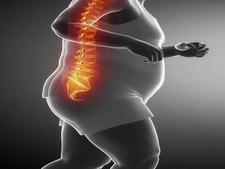 Obesidade: o surgimento de problemas na coluna