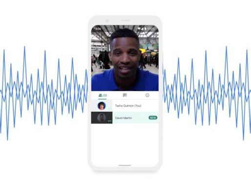 Google Meet usa IA para cancelar ruído em chamadas de vídeo