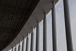 Corridor with pillars