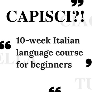 10-WEEK ITALIAN COURSE FOR BEGINNERS
