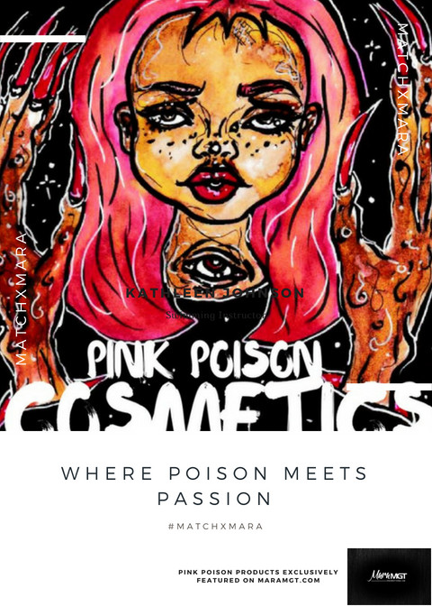 MATCHxMARA: Pink Poison Cosmetics Review