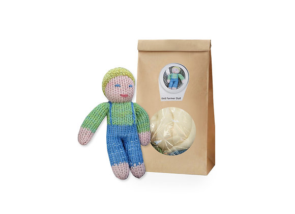 Knit a Farmer Doll