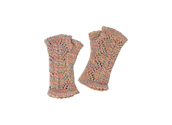 Lace and Cable Wrist Warmers