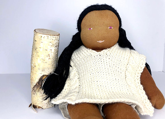 Knitted Doll Poncho