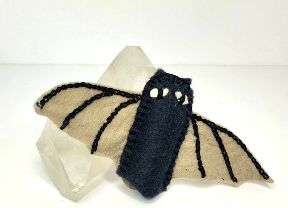 Embroider a Bat Finger Puppet