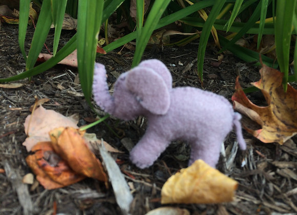 Sew a Plant Dyed Felt Elephant
