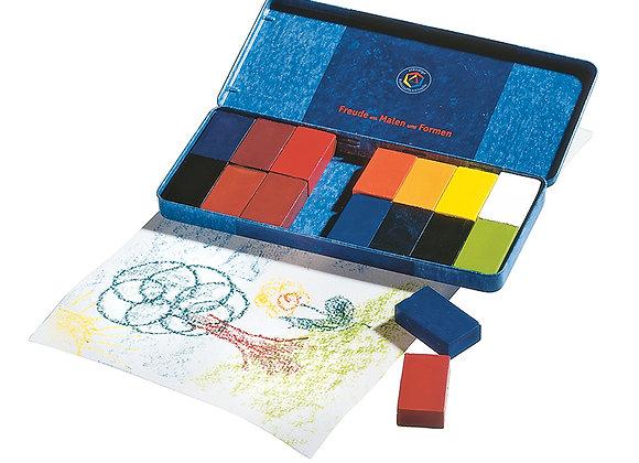 Stockmar Wax Block Crayons Tin Case - 16 Assorted