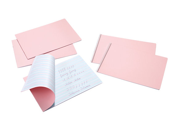 Handwriting Practice Book 9-6-9 Landscape Format Stapled - Pink