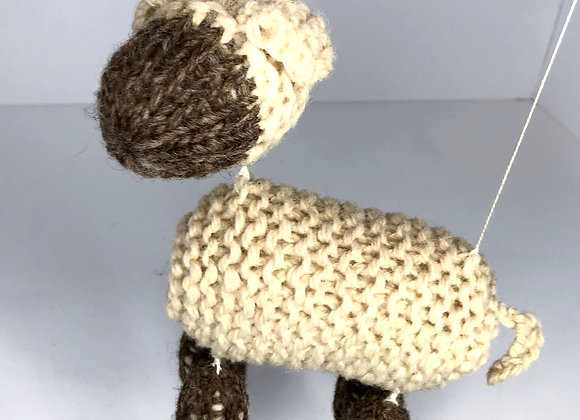 Knitted Lamb Marionette