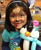 face painting dog balloon penguin Culvers Indianapolis