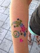 airbrush tattoo lizard Noblesville