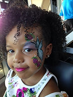 face painting butterfly Fishers Topgolf
