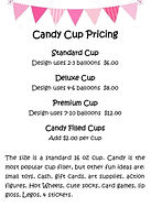 Balloon Candy Cup Pricing & Info Gift Carmel